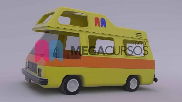 (Render 1) Modela desde 0 un complejo vehículo practicando con todas las herramientas