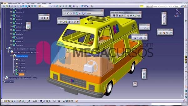 Modela desde 0 un complejo vehículo practicando con todas las herramientas