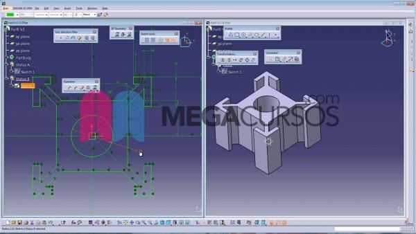 Adquiere las competencias necesarias en dibujo 3D en Catia
